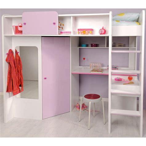 lit mezzanine avec armoire intégrée lit combin 233 sur 233 lev 233 avec bureau 233 tag 232 res et armoire