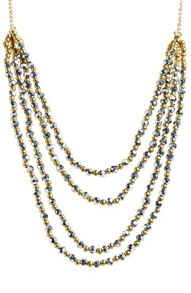 Kalung Single Necklace panacea beaded multistrand necklace available at nordstrom jewelry