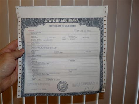 Louisiana Vital Records Birth Certificate Birth Certificate Request In Louisiana