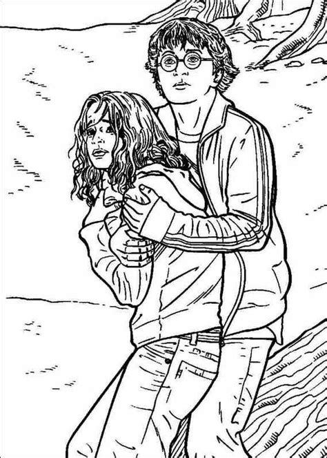 harry potter coloring book big w harry hermione coloring pages