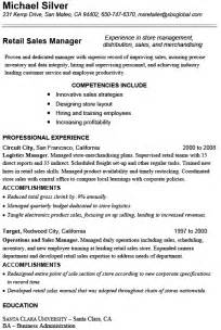 Sle Retail Manager Resume by 10 Retail Resume Template Free Word Excel Pdf