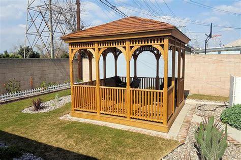 gazebo depot rectangle pine  cedar gazebos rect