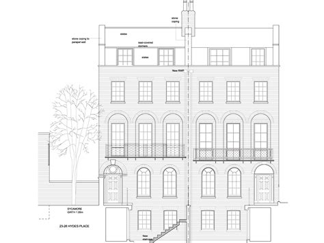 house elevation dimensions canonbury square roger mears architects