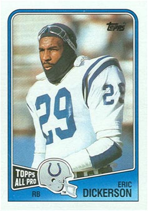 football cards value 1988 topps eric dickerson 118 football card value price guide