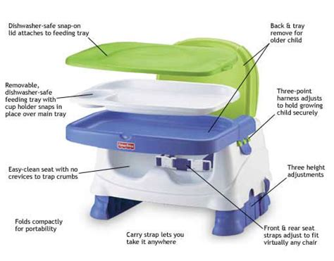 Fisher Price Travel High Chair by Fisher Price Healthy Care Deluxe Booster Seat