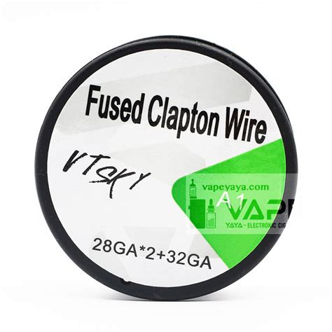 Fused Clapton Coil Vapor Best Quality Use Kanthal A1 Vapowire Usa fused clapton wire coil 15ft