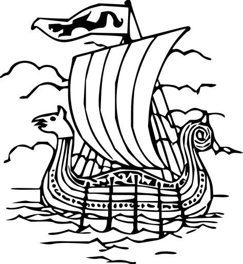 Viking Ship Clipart Clipart Best Viking Ship Coloring Page