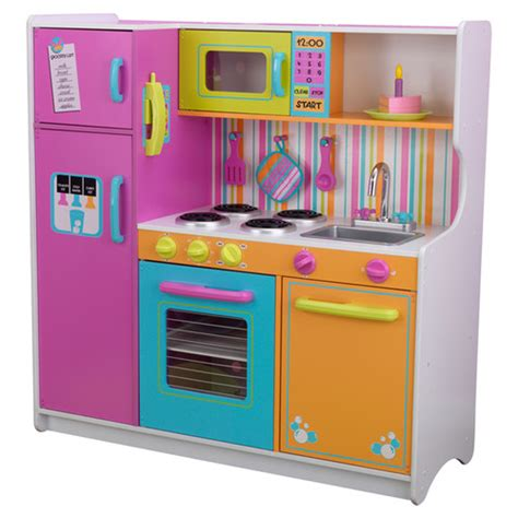 Kid Kraft Kitchen Set by Kidkraft Deluxe Big Bright Kitchen Play Set Reviews