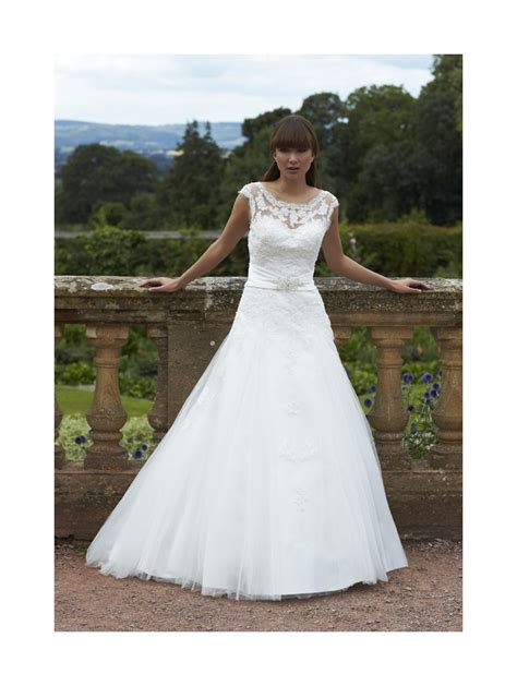 wedding dresses size 16 romantica caitlyn lace and tulle bridal gown ivory silver