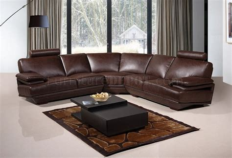 chocolate sectional sofa 8380 sectional sofa in chocolate bonded leather american eagle