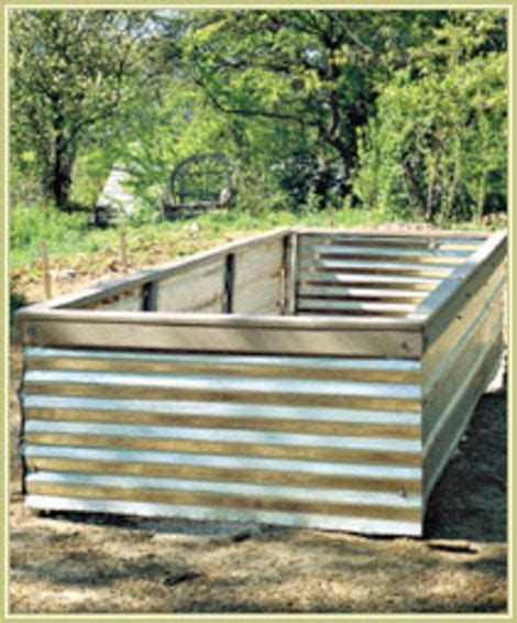 corrugated metal raised garden beds corrugated metal raised garden beds gardening pinterest