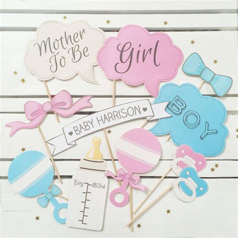 Baby Shower Photo by Baby Shower Photo Booth Props By Postbox