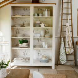 Ideas For Kitchen Shelves by Decorate A Shelf Unit Country Kitchen Storage Ideas