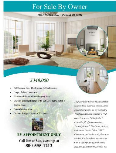 Modern Flyer For Sale By Owner Free Flyer Templates Microsoft Word Real Estate Flyer Template For Selling A House