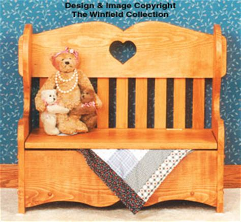 furniture childs storage bench wood plan