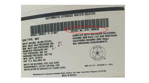Fireplace Serial Number by Water Heating Technologies Recalls Gas Water Heaters Due To Hazard Cpsc Gov