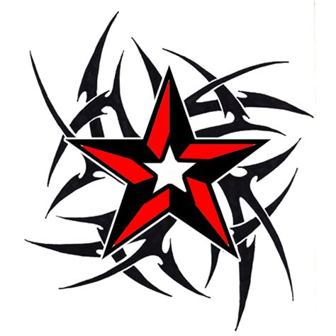 tribal star tattoo clipart best
