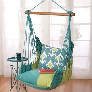 Enjoy your morning tea or coffee here on the indoor hammock chair