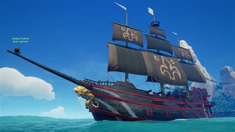 Black And The Ship Of Thieves fully upgraded galleon ship seaofthieves