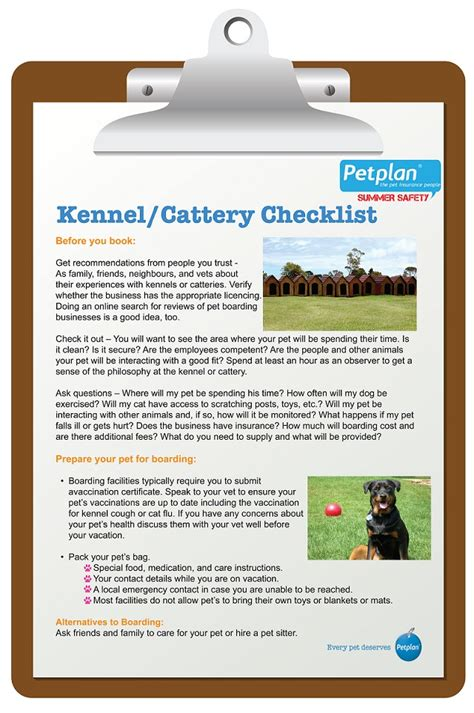 preparing for a puppy checklist pet boarding checklist petplan