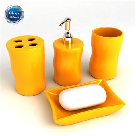 Bath Accessories 3d Model 3d Bathroom Accessories Bath Model