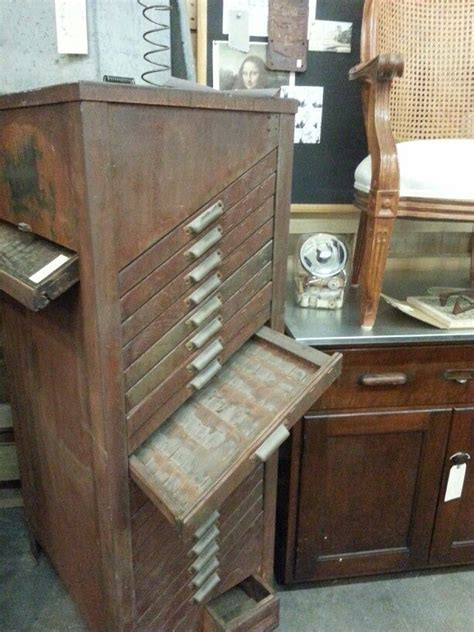 Vintage Printers Cabinet by 17 Best Images About Organizing Your Jewelry Nightmare On