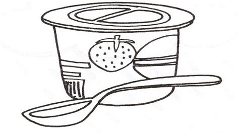 Coloring Page Yogurt by Yogurt Coloring Pages Grig3 Org