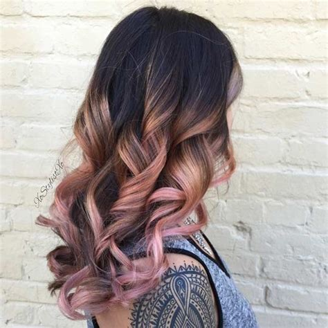 rose gold hair dye dark hair 23 trendy rose gold hair color ideas stayglam