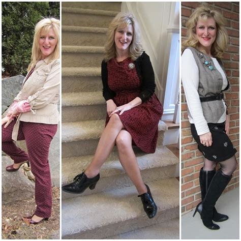 clothing for women over 45 still blonde after all these years hanes legwear for spring outfits modeled by women over 45