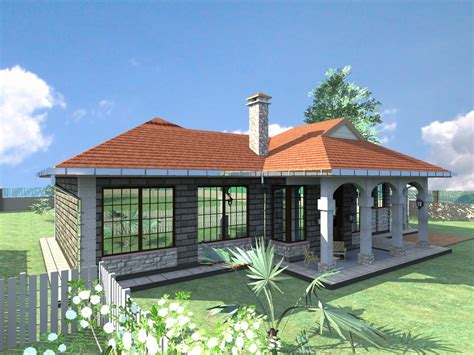 Unique Bungalow House Plans by Unique Three Bedroom Bungalow House Plans In Kenya House