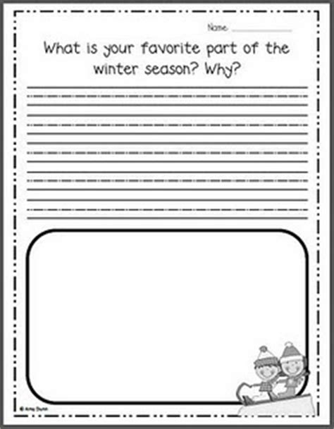 Free winter writing prompts | Classroom Writing