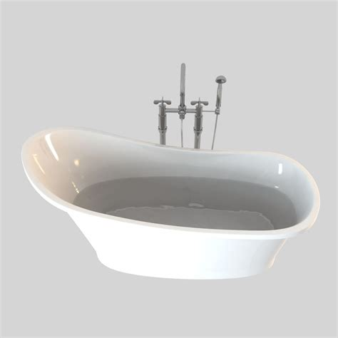 bathtub model marmite aurora bath 3d model max obj fbx cgtrader com