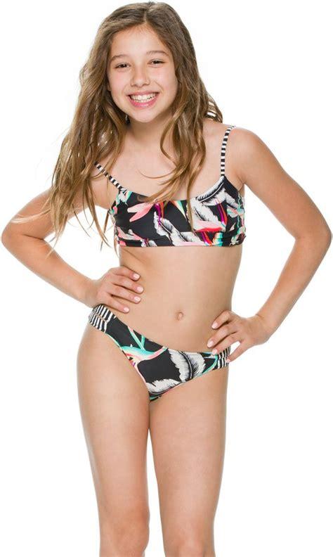 tween girl swimwear bikinis billabong billabong ticket to paradise viva swim set