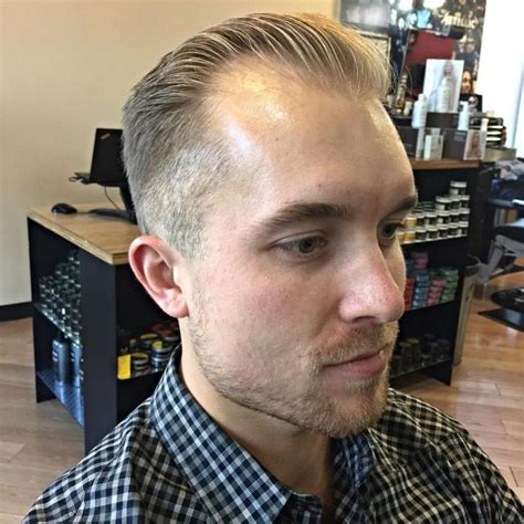 slick back with receding hairline 75 best hairstyles for thinning hair 2018 ideas