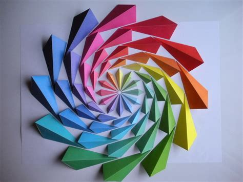 Origami Japanese Flower - simply creative colorful origami mosaic by kota hiratsuka