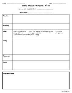 Guided Reading Mini Lesson And A Template For A Guided Reading Lesson Interactive Read Aloud Interactive Lesson Plan Template