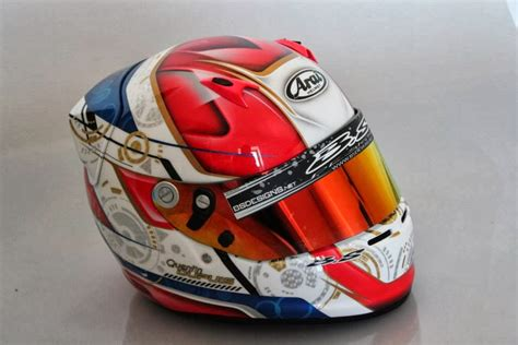 design car helmet racing helmets garage arai sk 6 q dupus 2013 by bs designs