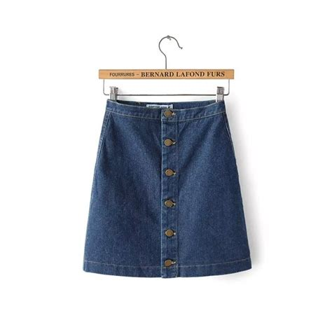 2015 new look denim a line button through pencli skirt in