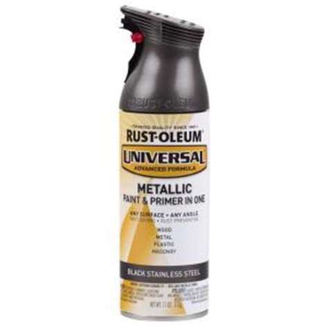home depot spray paint and primer rust oleum universal 11 oz all surface black stainless