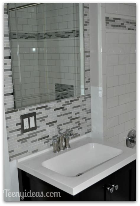 White Bathroom Tile Ideas bathroom reveal teeny ideas