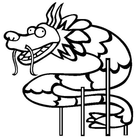 dragon dance coloring page chinese dragon netart