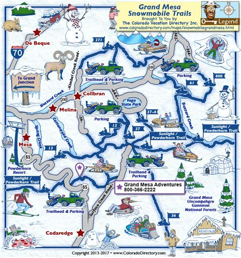 grand in colorado map grand mesa snowmobile trails map colorado vacation directory