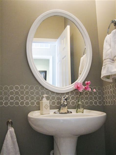 Modern Bathroom Paint Remodelaholic Free Diy Modern Painted Border Idea