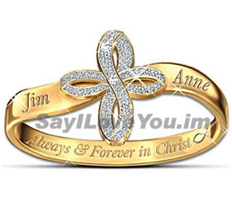 christian promise ring personalized religious couples