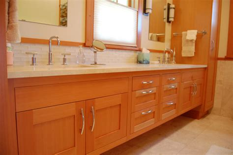 vertical grain douglas fir cabinets clean vertical grain bath vanity traditional bathroom