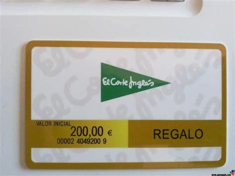 tarjeta compra el corte ingles vendo tarjeta corte ingles de200 por 180
