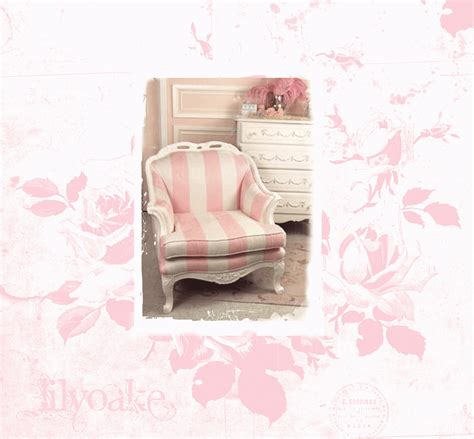 Pink And White Striped Chair by Lilyoake Pink Stripes And Toile