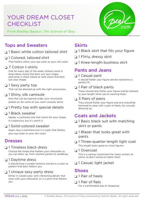 Basic Wardrobe Checklist by Basic Wardrobe List Oprah Looks Wardrobes