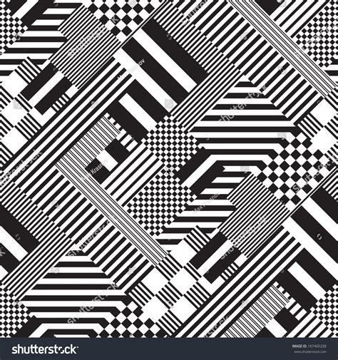 white pattern graphic seamless black white lines pattern abstract stock vector