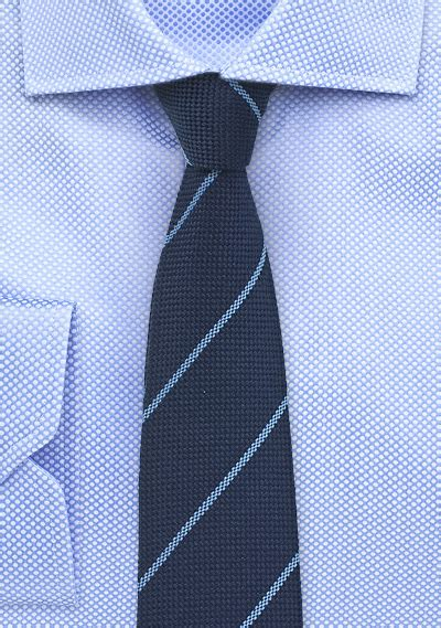 light blue wool tie navy skinny wool tie with light blue stripes bows n ties com